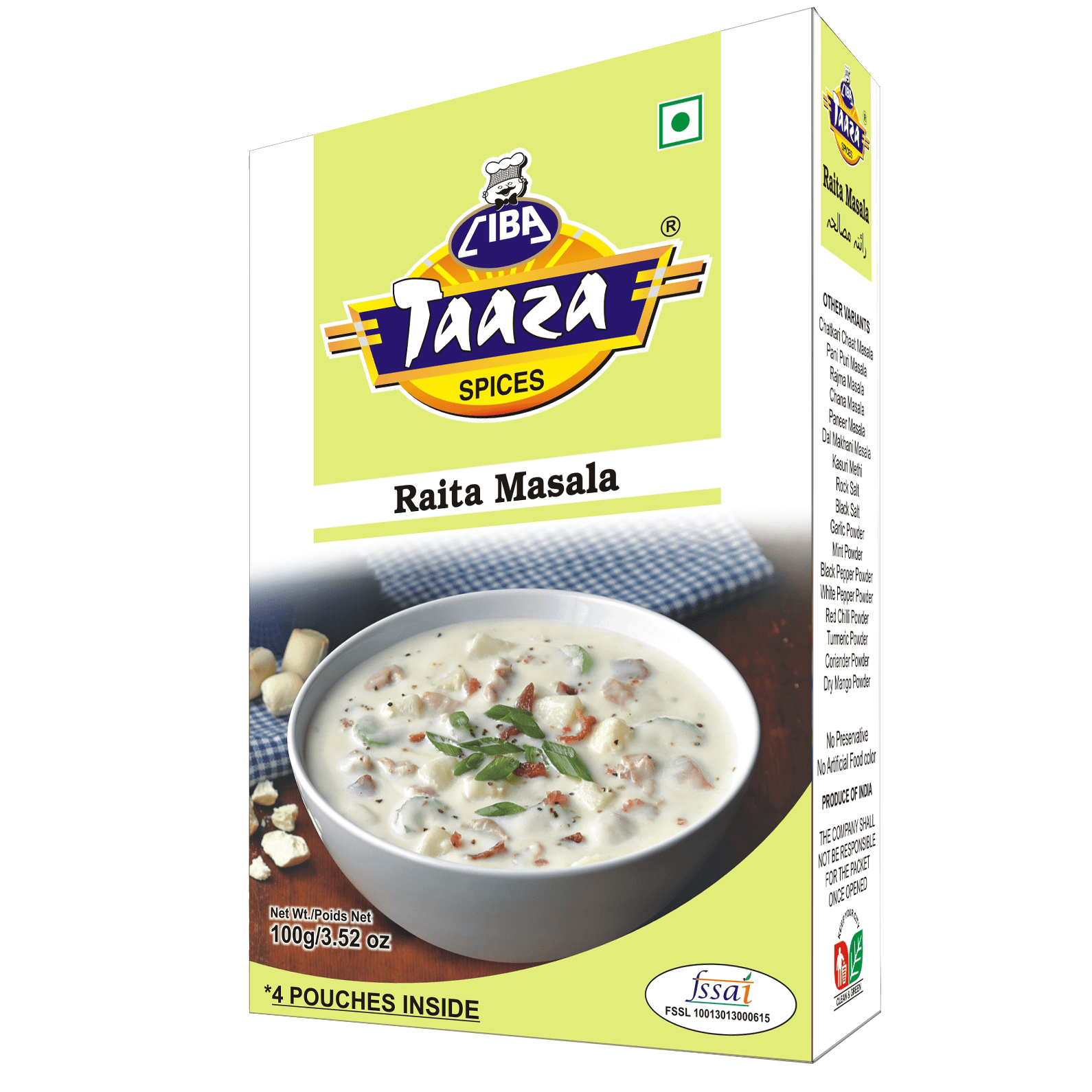 Raita Masala Powder By Ciba Taaza Spices, 100g