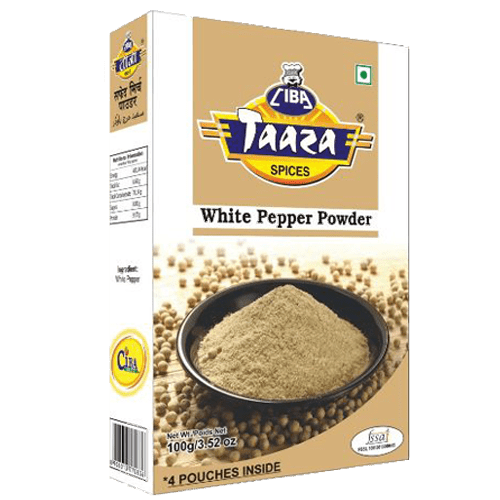White Pepper Powder (Safed Mirch Powder), 100g